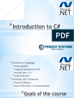 Introduction to C# and basics  of Dotnet