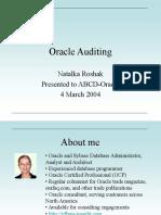 Oracle Auditing Nroshak