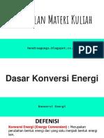 2. Dasar Konversi Energi