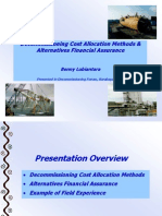 Decommissioning Cost Allocation Methods & Alternative Financial Assurance