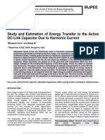 Study and Estimation of Energy Transfer to the Active DC-Link Capacitor Due to Harmonic Current