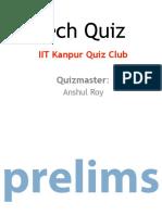 Iitk Tech Quiz