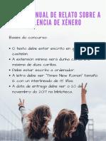 Primera Edición Anual Del Relato Contra La Violencia de Género