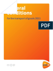 General Conditions for the Transport of Goods