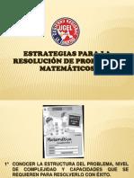 Estrategias Para Resolución de Problemas Matematicos