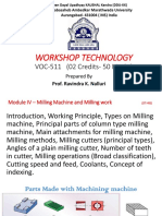 Module IV–Milling Machine