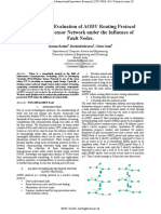 Performance Evaluation of AODV Routing Protocol in Wireless Sensor Network under the Influence of Fault Nodes.