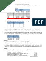 Contoh Soal Penganggaran Perusahan