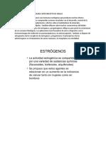 ESTROGENOS Y PROGESTAGENOS ANTICONCEPTIVOS ORALES