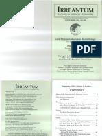 Irrenatum Vol. 1, No. 3, Sept 1999