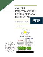 Analisis Evapotranspirasi