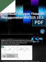 03 Membuat Polygon Thiessen Menggunakan Arc GIS 10