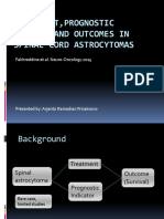 Treatment,Prognostic Factor, And Outcomes in Spinal Cord