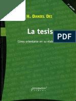 326855358 La Tesis Como Orientarse en Su Elaboracion PDF