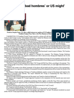 Bad Hombres Bangkok Post - PressReader