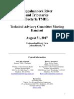 Rappahannock River and Tributaries Bacteria TMDL meeting August 2017