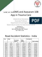 Prof Gita Krishnan RamaduraiUse of RADAMS and 108 Avasaram App in Trauma Care
