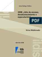 2008 - Escasez o Especulacion