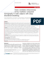 Metabolic Syndrome Correlates Intracoronary Stenosis Detected by Multislice Computed Tomography in Male Subjects With Sleep- Disordered Breathing