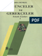 Arda Denkel - Düşünceler Ve Gerekçeler (Felsefe Yazıları 1) [Göçebe, 1997]