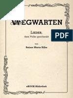 Maria, Rilke Rainer - Wegwarten I (2010)