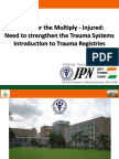 Prof Dr Amit GuptaAITSC Trauma Registry & Trauma Quality Improvement In India