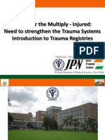 Prof Dr Amit Gupta	AITSC Trauma Registry & Trauma Quality Improvement In India