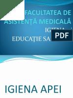 Igiena Apei Curs 3