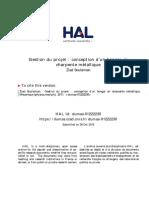Gestion Du Projet _ Conception d'Un Hangar en Charpente Métallique - Document