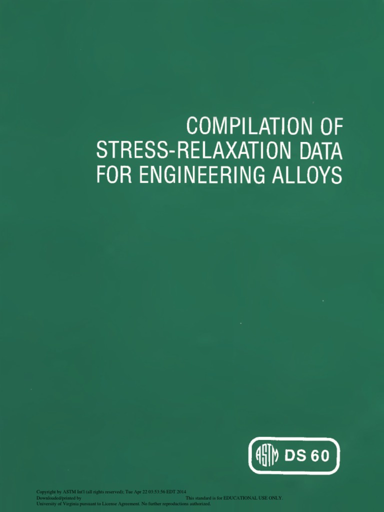 Manjoine M. J., Voorhees H. R.-Compilation of Stress-Relaxation Data ...