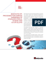 FAQ Processes for Surface Hardening of Stainless Steels Bodycote S3P