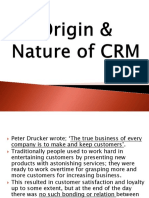 Chp 2 - Origin & Nature of CRM