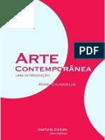 Arte Contemporânea - Uma Introdução - Anne Cauquelin