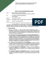Informe Ugel Racionalizador Cap Provisional 2016 Ugel Lucanas