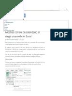 Mostrar Control de Calendario Al Elegir Una Celda en Excel - EXCELeINFO