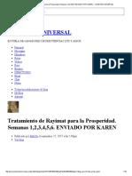 Tratamiento de Rayimat Para La Prosperidad. Semanas 1,2,3,4,5,6