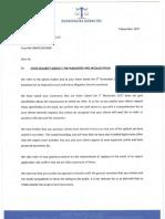 Letter to de Klerk