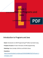 Lecture 1 LACC Java