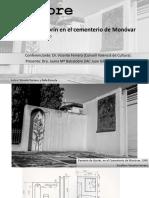 Legados Fundación Caja Mediterráneo. Panteón de Azorín en el Cementerio de Monóvar