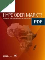 Afrika Studie Afrika Hype Oder Markt