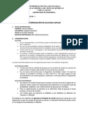 niveles de glucosa en diabeticos pdf