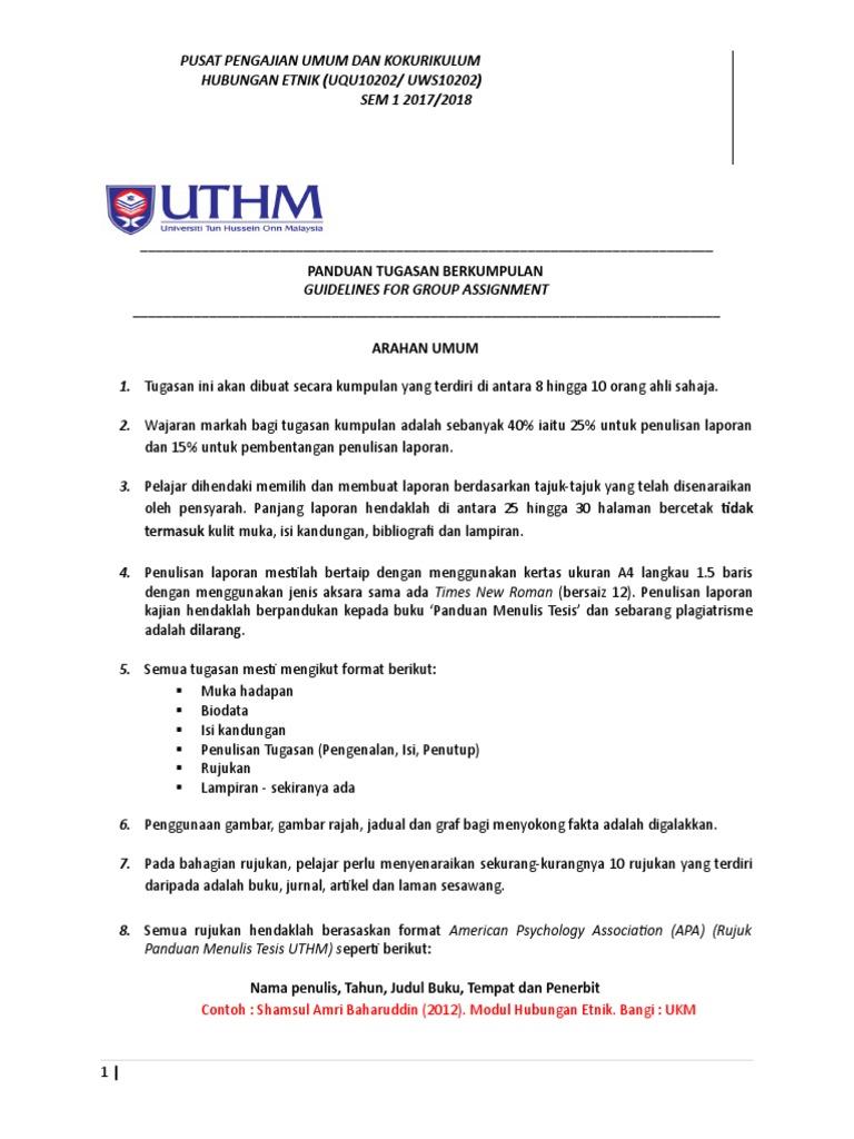Panduan Penulisan Tugasan Sem 1 1718c Filename= UTF 8
