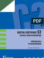 Prüfungsziele Testbeschreibung Goethe-Zertifikat C2 (ZOP)