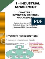3.0 Inventory Management