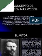 El Concepto de Poder en Max Weber[1]