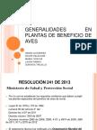 Generalidades en Plantas de Beneficio de Aves