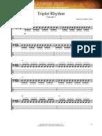Triplet rhythm exercises
