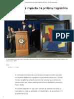 CIDH Discutirá Impacto Da Política Migratória de Trump - IsTOÉ Independente