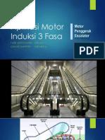 ESKALATOR - Aplikasi Motor Induksi 3 Fasa