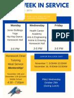 this week in service week 3